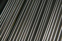 Glänzende Stahlrohre Stockfoto