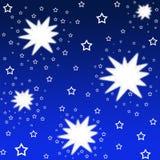 Glänzende Sterne stock abbildung