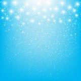 Glänzende Sterne auf Blau Lizenzfreies Stockbild