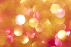 Glänzende undeutliche Lichter des Feiertags Stockbild