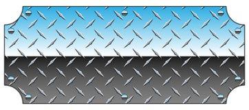 Glänzende Vektor-Illustration Chromes Diamond Plate Metal Sign Background lizenzfreie abbildung