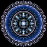 Glänzende Verzierungsmandala Stockbild