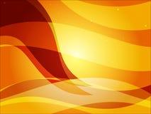 Glänzende Wavey Hintergrund-Orange lizenzfreie stockfotografie