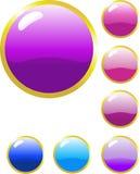 Glänzende Web-Tasten Lizenzfreies Stockfoto