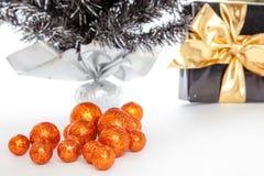 Glänzende Weihnachtsbälle Lizenzfreies Stockbild