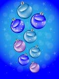 Glänzende Weihnachtsbälle lizenzfreie abbildung