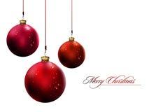 Glänzende Weihnachtskugeln   Vektorabbildung Lizenzfreie Stockfotos