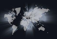Glänzende Weltkarte lizenzfreies stockfoto