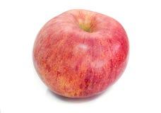 Glänzender Apfel Getrennt auf einem weißen Hintergrund lizenzfreies stockbild