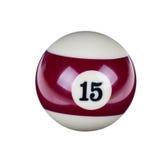 Glänzender Ball für Billard Lizenzfreie Stockbilder