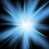 Glänzender blauer Stern Lizenzfreie Stockfotos