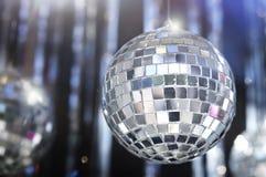 Glänzender Disco Funkeln-Kugelhintergrund Stockfotografie