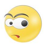 Glänzender Emoticon Stockfoto