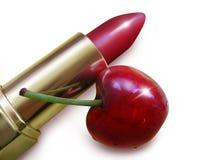 Glänzender glatter saftiger Lippenstift. Lizenzfreie Stockbilder