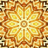 Glänzender goldener Kaleidoskopstern Stockbilder