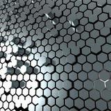Glänzender Hexagonmetallplattehintergrund Vektor Abbildung