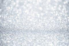 Glänzender Hintergrund des neuen Jahres Abstraktes Silber Stockbilder