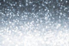 Glänzender Hintergrund des neuen Jahres Abstraktes Silber Stockfotos