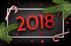 Glänzender 2018 Hintergrund des neuen Jahres 3d Lizenzfreies Stockbild