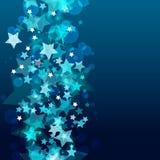 Glänzender Hintergrund mit abstrakten glühenden Sternen Vektorfeiertags-BAC vektor abbildung