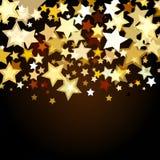 Glänzender Hintergrund mit abstrakten glühenden Sternen Vektorfeiertags-BAC lizenzfreie abbildung