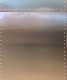 Glänzender Metallbeschaffenheits-Hintergrund mit Knopf und Linie für Möbel-Material oder Raum-Innenraum Stockbild