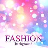 Glänzender Modeunschärfe bokeh Hintergrund für Schönheit Lizenzfreie Stockbilder