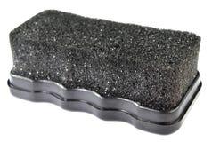 Glänzender Pinsel des schwarzen Schuhes Stockfotos