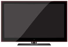 Glänzender Plasma Fernsehapparat lizenzfreie stockfotos