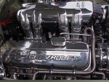 Glänzender Polier-Chevrolet-Motor Lizenzfreie Stockfotos
