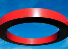 Glänzender roter Kreis Lizenzfreies Stockfoto