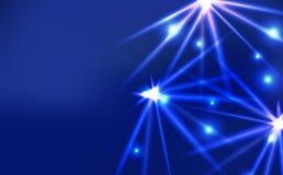 Glänzender Schein des hellen hellen Effektes, ultraviolettes Neonkonzept abst lizenzfreie abbildung