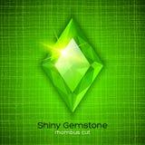 Glänzender Smaragd auf strukturiertem Hintergrund Lizenzfreie Stockfotografie