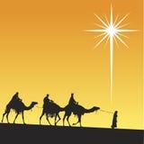 Glänzender Stern von Bethlehem. Lizenzfreie Stockfotos