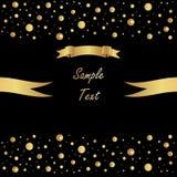 Glänzender Vektorhintergrund mit goldenen Bändern Lizenzfreies Stockfoto