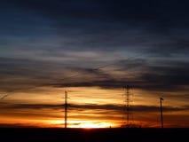 Glänzender vielschichtiger Sonnenaufgang in Rocky Mountains Lizenzfreie Stockfotografie