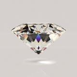 Glänzender weißer Diamant Lizenzfreies Stockfoto