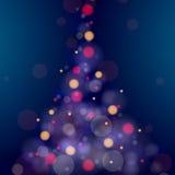 Glänzender Weihnachtsbaum Stockfotos