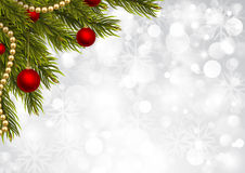 Glänzender Weihnachtshintergrund Stockbilder