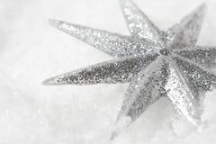 Glänzender Weihnachtsstern Stockfoto