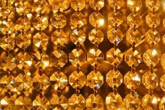 Glänzendes abstraktes Muster des hellen goldenen Goldgelbs, Abschluss oben von De Lizenzfreie Stockfotografie