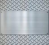 Glänzendes Diamantplatten-Metallbackgorund Lizenzfreie Stockbilder