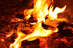Glänzendes Feuer Stockbild