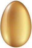 Glänzendes goldenes Ei Stockbild