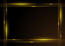 Glänzendes Goldfeld Stockfotografie
