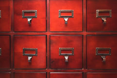 Glänzendes hölzernes Kabinett Stockbilder