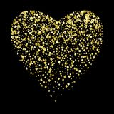 Glänzendes Herz mit Quadraten auf einem schwarzen Hintergrund Festliche Abbildung Liebe, Tag des Valentinsgrußes s, Hochzeit, Rom lizenzfreie abbildung