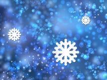 Glänzendes Muster von Schneeflocken Stockfotografie