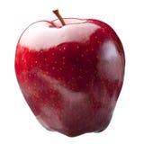 Glänzendes rotes Apple lokalisierte Stockfoto