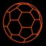 Glänzendes soccerball Stockfotografie